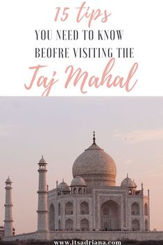 No-one can ever fully prepare you for what to expect anywhere India, these are definitely 15 tips you need to know before visiting the Taj Mahal! India Travel Guide, Asia Travel, Solo Travel, Beautiful Love Stories, The Beautiful Country, Varanasi, Agra, Travel Guides, Travel Tips