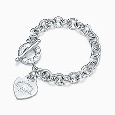 Return to Tiffany™ heart tag toggle bracelet in sterling silver, medium.