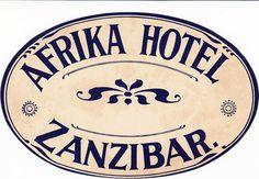 Afrika Hotel Zanzibar Luggage Label