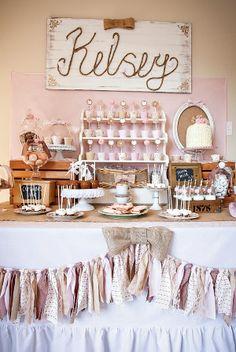 Beatiful cowgirl dessert table