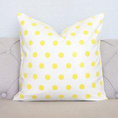 yellow polka dot pillow