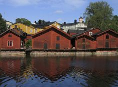 Europe Video Productions travel photo: Old town of Porvoo in Finland with wooden red shore houses - Porvoo Finland's second oldest town. Helsinki, Finland Country, Malta, Finland Travel, Finland Trip, Photo Voyage, Regions Of Europe, Enjoy Your Vacation, City Landscape