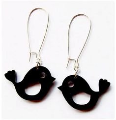 My new perspex robin earrings by Genevieve Motley