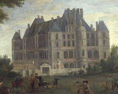 """""""The Château de Madrid in the Bois de Boulogne"""". (by Martin Pierre Denis)."""