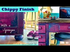 Chippy Layered Paint Finish with a Putty Knife & Spray Bottle - YouTube