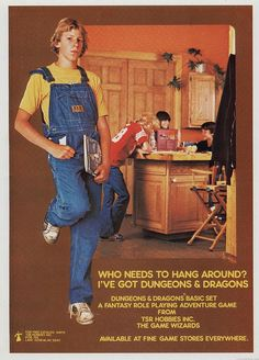 A young James Hetfield in overalls stays out of trouble with Dungeons & Dragons jajajajajaj