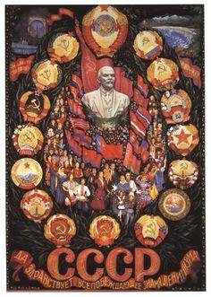 http://www.sovietposters.com/showposter.php?poster=173 Communist Propaganda, Cold War Propaganda, Propaganda Art, Long Live, Russian Constructivism, Russian Revolution, Socialist Realism, Socialist State, Russian Culture