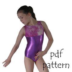 Leotards 1 pdf sewing pattern gymnastics gym ballet dance girls sizes 2-14