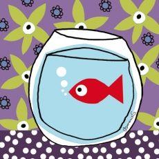 1000 images about illustrations fish bowl on pinterest for Bocal de poisson rouge