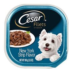Cesar Filets New York Strip  Flavor Dog Food Trays 35 oz Pack of 24 *** Continue to the product at the image link.