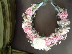 floral headress using foam and silk flowers a keepsake for bridesmaid or flower girl
