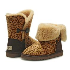 Ugg Bailey Button Boots 5803 Leopard