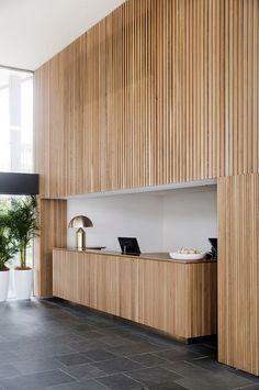 Design Hall, Lobby Design, Küchen Design, Wall Design, Modern Design, Lobby Interior, Office Interior Design, Interior Design Living Room, Interior Architecture