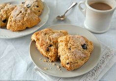 Tart cherry scones