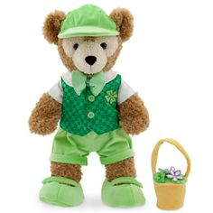 Duffy the Disney Bear Reversible Costume - St. Patrick's Day and Easter - 17''