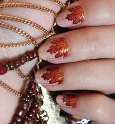 *autumn leaves* nail art <3