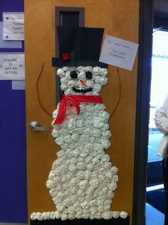 Snowman Door Design