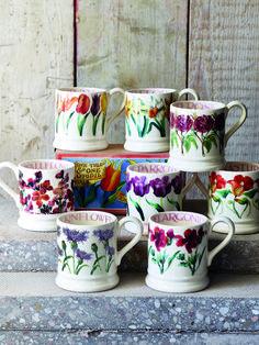 Emma Bridgewater Pottery, Hand Painted Mugs, Crafts Beautiful, Stoke On Trent, Pottery Mugs, Earthenware, Dinnerware, Tea Pots, Kitchen Ware