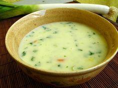 Krémová pórková polévka