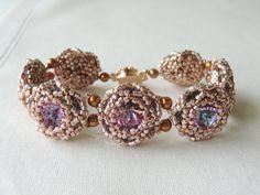 Swarovski Rivoli Bracelet Flower Bracelet by CharlotteJewelryBox,