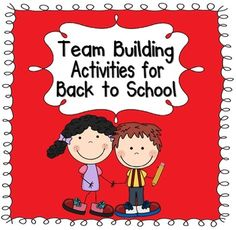 This pack includes 9 different team building activities. It is perfect for breaking the ice and getting to know each other during the first week of school.  $3