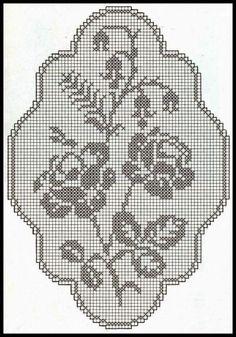 rose filet | Hobby lavori femminili - ricamo - uncinetto - maglia