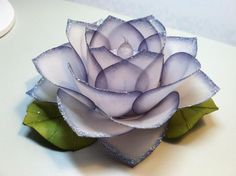 vellum tea light rose...made with ornament punch