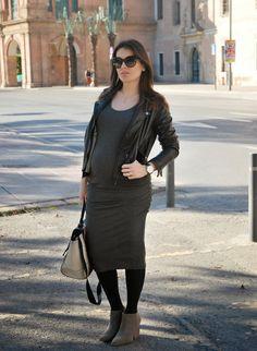 Grey Dress StreetStyle