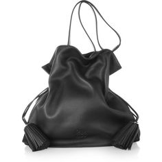 Loewe Flamenco 36 large textured-leather shoulder bag ($2,600) ❤ liked on Polyvore featuring bags, handbags, shoulder bags, purses, bolsas, black, oversized shoulder bag, loewe, loewe purse and shoulder bag handbag