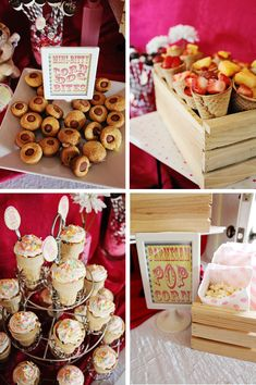 Circus Baby Shower Food-maybe different kinds of food but same concept
