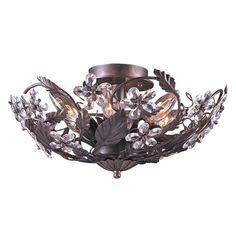 Crystorama Abbey 6-light Dark Rust Semi-flush Light