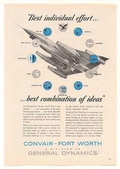 Convair Fort Worth B-58 Bomber Aircraft (1959) The aircraft my grandfather flew