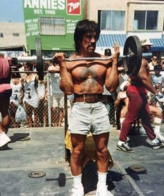 Danny Trejo at Muscle Beach. 1995