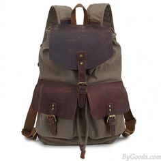 Outdoor Sports Large Capacity Bucket Bag Retro Leisure Backpack | Fashion Backpacks | Fashion Bags- ByGoods.Com