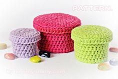 Crochet Pattern  Crochet Boxes Pattern No. 022  von ZoomYummy