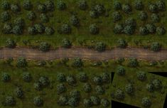Forest tile set, a printable and online battle map for Dungeons and Dragons / D&D, Pathfinder and other tabletop RPGs. Tags: forest, trees, tile, fantasy, road, encounter, combat, print, roll20, fantasy grounds
