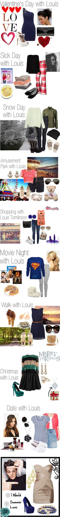 """Date with Louis"" by flamedheart26 ❤ liked on Polyvore"