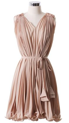 Grecian pleated dress