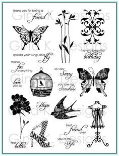 Springtime Silhouettes - Gina K Designs