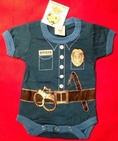 @Stephanie Kinsey Baby Boy Clothes : Baby Boy Police Officer Baby Onesie NWT # 67099 #Rothco #Everyday