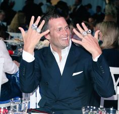 TB12 receives his fourth ring. 06/14/15