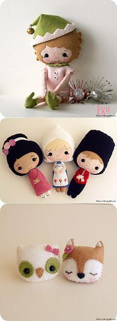 Фетровые миниатюрные куколки
