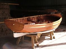 Traditional Wooden Clinker Rowing Boat2