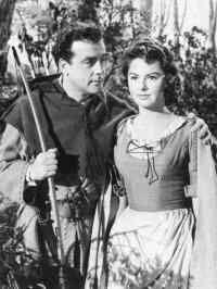 Robin Hood and Maid Marian  Bernadette O'Farrell as Maid Marian with Richard Greene's Robin Hood