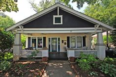 1920 39 s bungalow big front porch with a swing lots of for Craftsman home builders charlotte nc