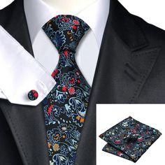 Галстук разноцветный с запонками и платком - купить в Киеве и Украине по недорогой цене, интернет-магазин