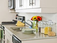 "Affordable kitchen upgrades. These are great tips for people in apartments or in a house or condo that isn't your ""forever home."""