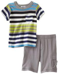 Splendid Littles Baby-boys Infant Tropical Stripe Tee And Cargo Short Set --- http://bizz.mx/kte