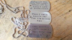 Choose your words Custom made handstamped metal by PearlyCrowns
