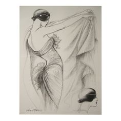 Antonio Lopez 1979 Coty Award Lithograph Mary McFadden   From a collection of rare vintage  at http://www.1stdibs.com/fashion/ephemera//